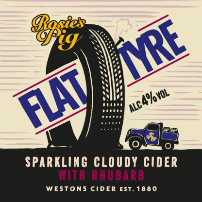 Westons Flat Tyre with Rhubarb